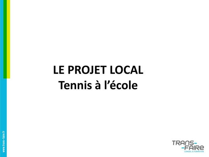 Le tennis à l'école