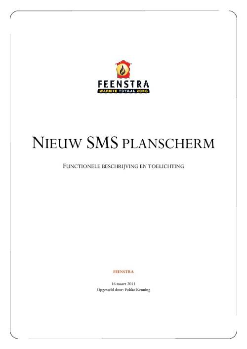 SMS Planscherm