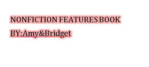 nonfiction text features by Bridget and Amy