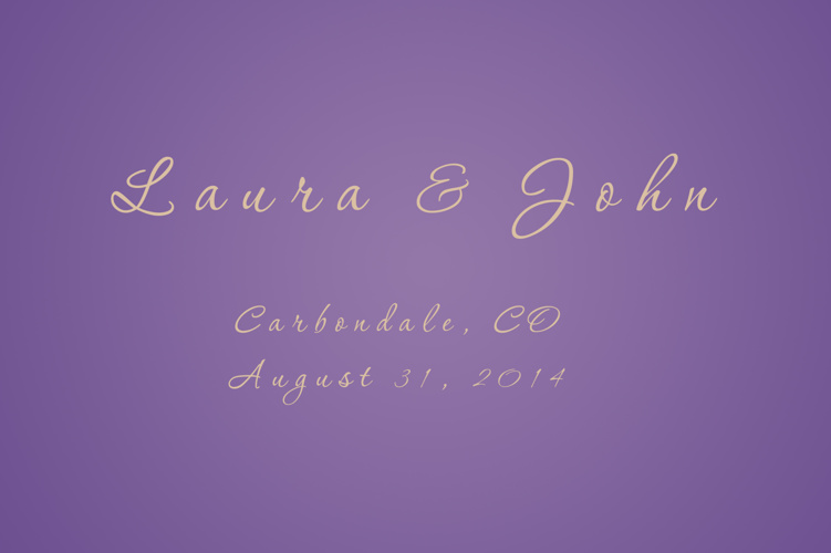 Laura John Wedding 8-31-14