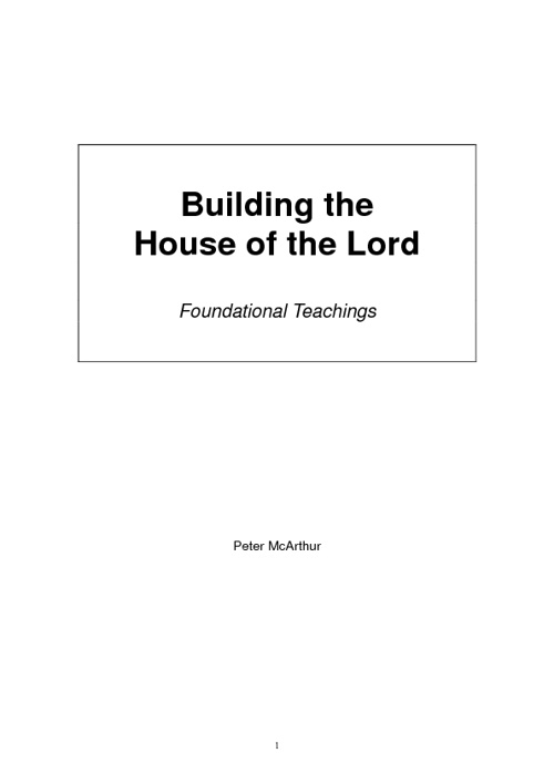 Building the House of the Lord