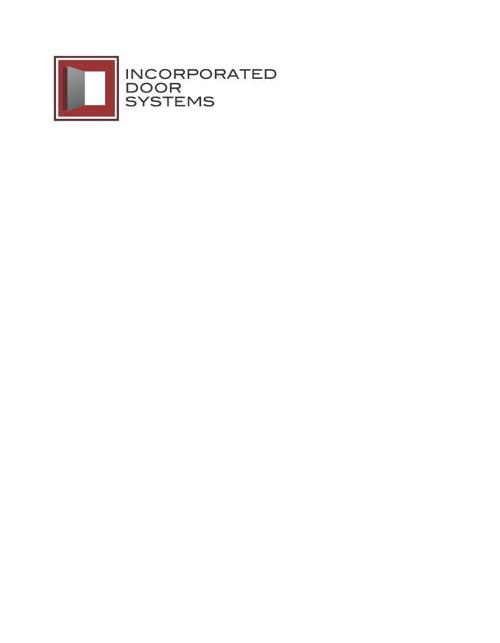Incorporated Door Parts Catalog