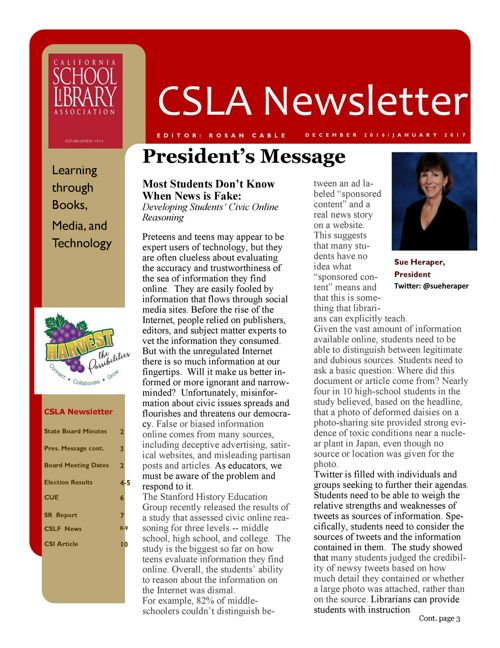 2017_01 2016_12  2CSLA Newsletter