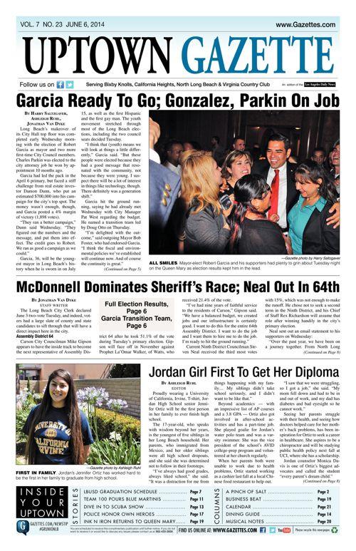 Uptown Gazette     June 6, 2014