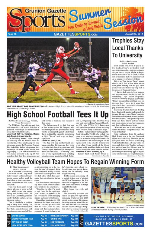 Gazette Sports   August 28, 2014