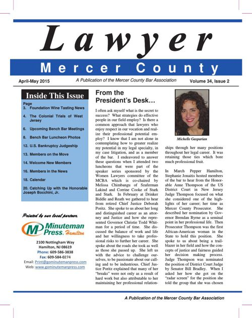 Lawyer: April-May 2015 Newsletter