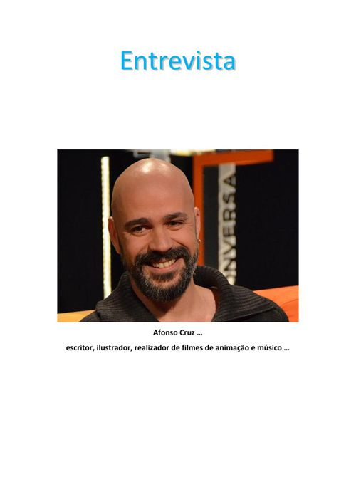 Entrevista a Afonso Cruz