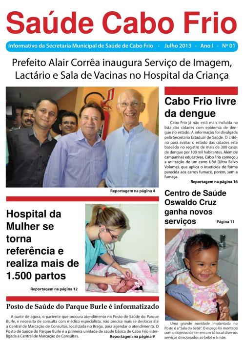 SAÚDE CABO FRIO - 6 MESES DE GOVERNO 1° EDIÇÃO