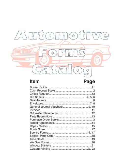JB Graphics Automotive Catalog