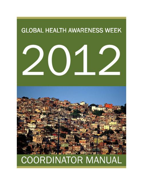 GHAW 2012 Coordinator Manual
