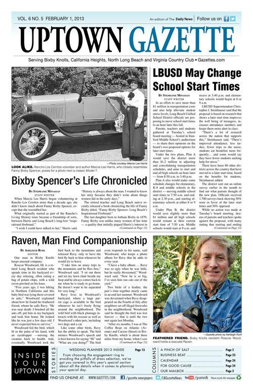 Uptown Gazette  |  February 1, 2013