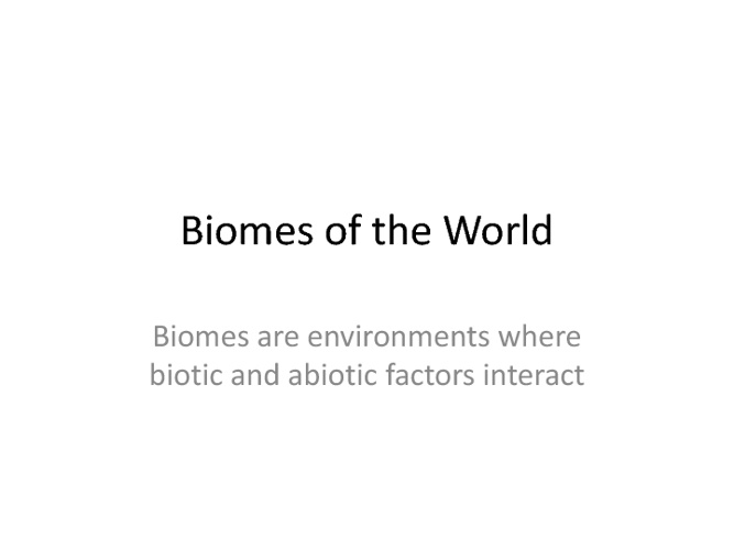 biomes hw
