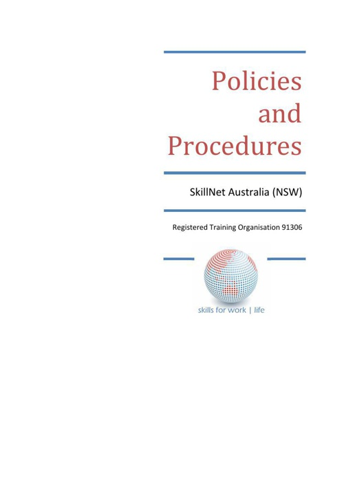 SkillNet Policies and Procedures v14