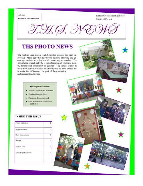 T.H.S. News Vol. 2