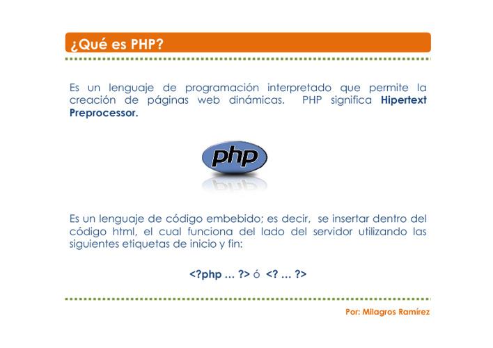 Conociendo PHP
