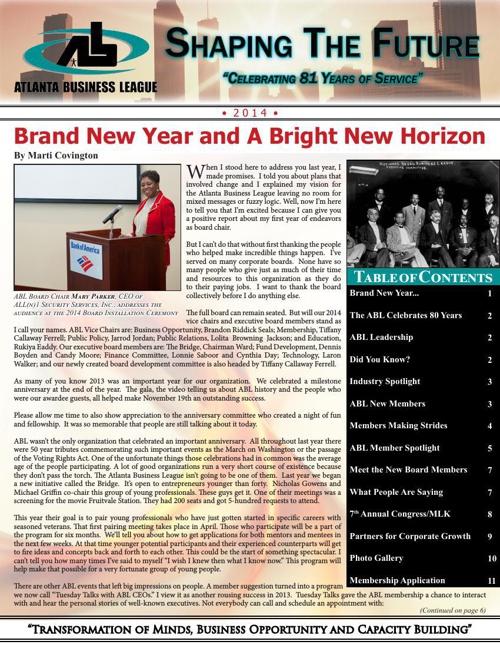 ABL 2014 Newsletter