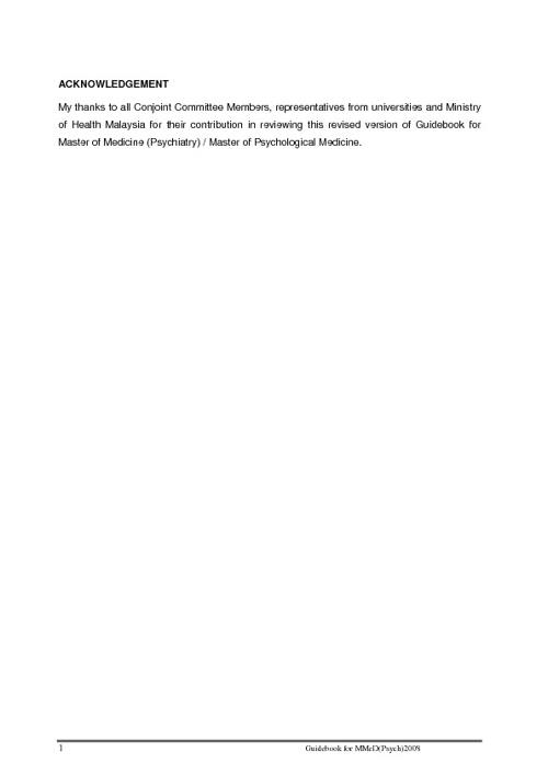 Postgraduate Psychiatry Guidebook