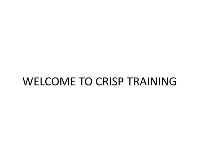 WELCOME_TO_CRISP_TRAINING