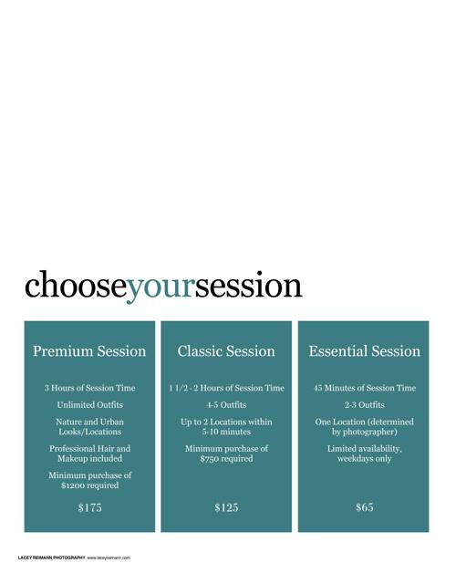 2015 Senior Session Guide