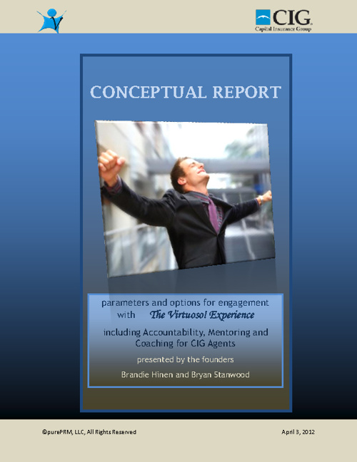 The Virtuoso! Experience Conceptual Report for CIG Insurance