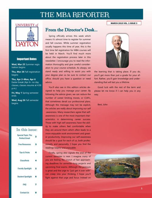 MBA Newsletter March 2015