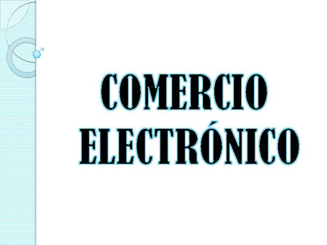 COMERCIO ELECTRÒNICO
