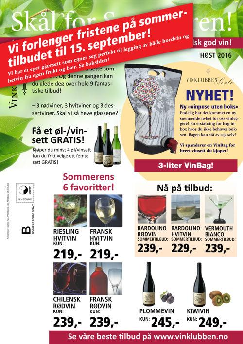 Vinklubben Høst 2016