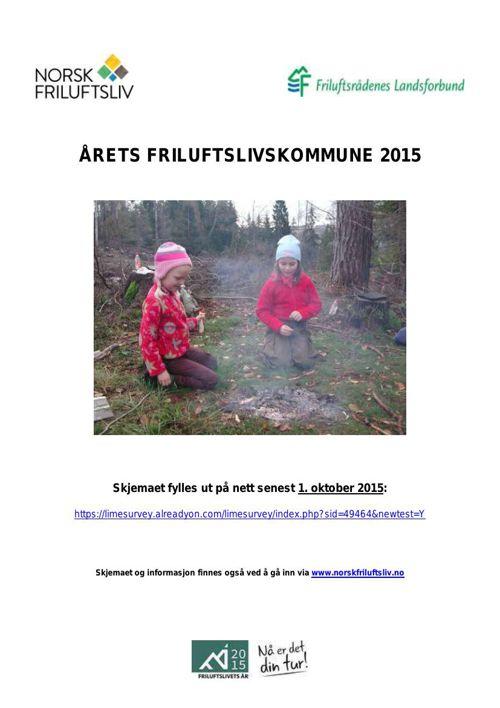 Årets friluftslivskommune 2015
