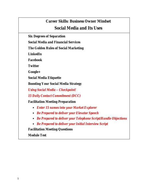 Social Media and Its Uses