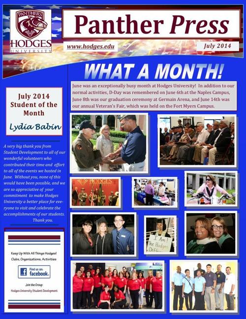 July 2014 Panther Press