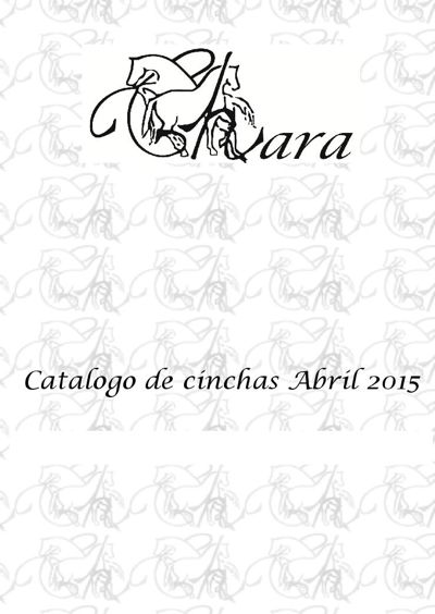 Catalogo de cinchas Abril 2015