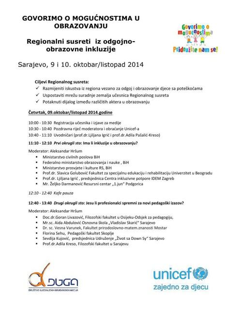 Dnevni red Regionalni susreti (verzija 30 sept)