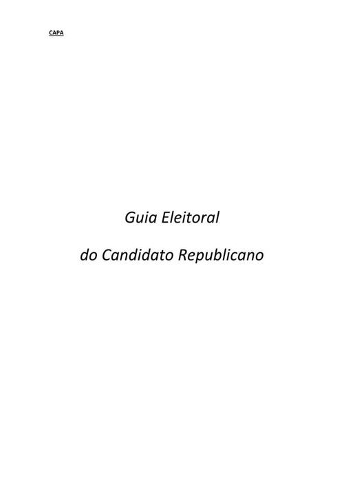 Guia Eleitoral do Candidato Republicano 2014