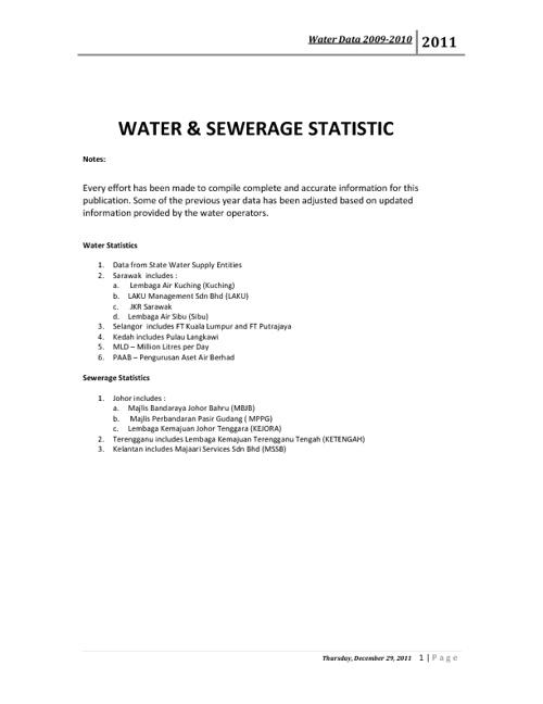Water Statistic 2010
