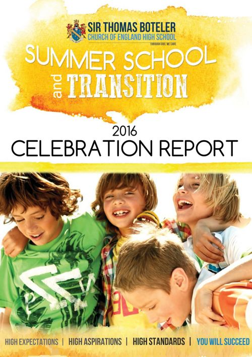 Summer School and Transition 2016 Celebration Report