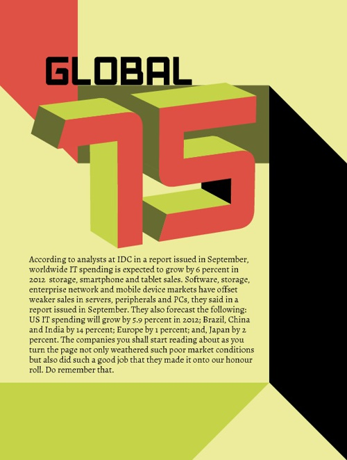 The Global 75 are those generally accepted by our judges as worl