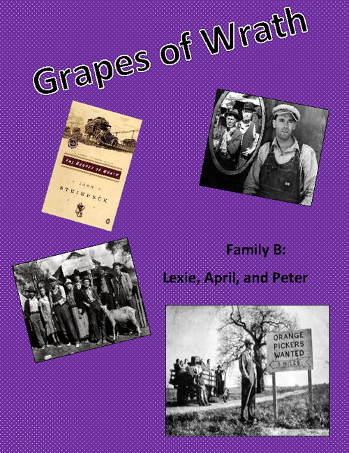The Grapes of Wrath- Family B FlipSnack! Lexie, April, Peter