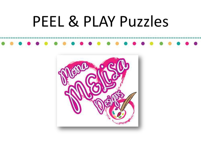 PEEL & PLAY Puzzles