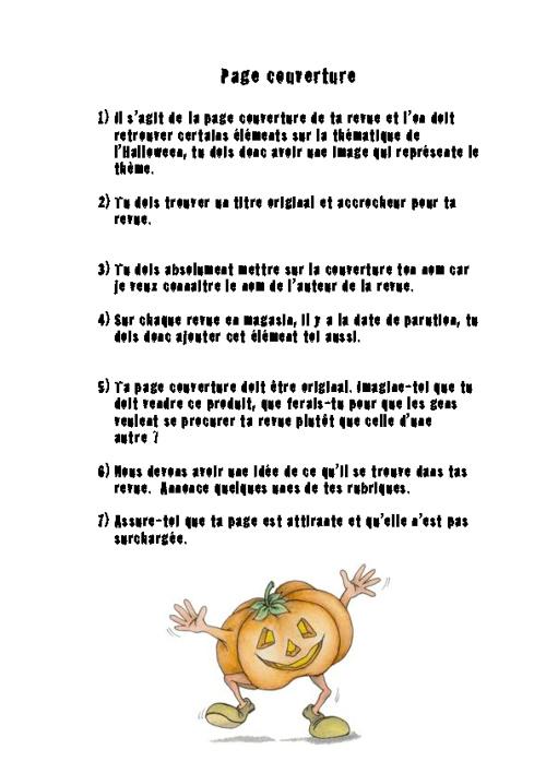 Revue d'Halloween par Mme Mélanie