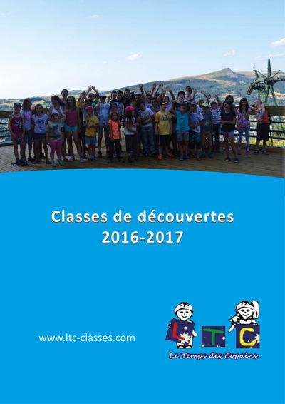 Brochure classes de découvertes