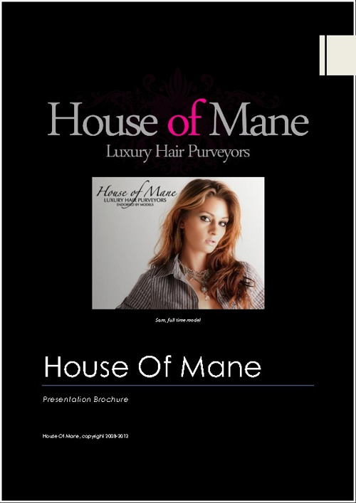 House Of Mane, Presentation Brochure
