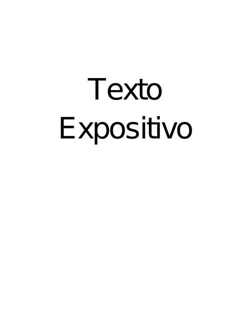 Texto Expositiv original