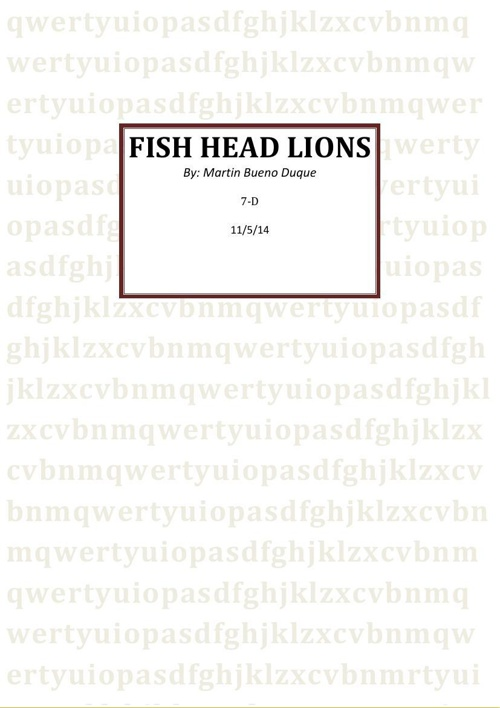 english project fish head lions (1)