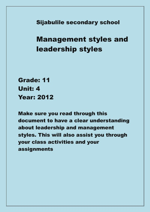 The Different Types of Management Styles