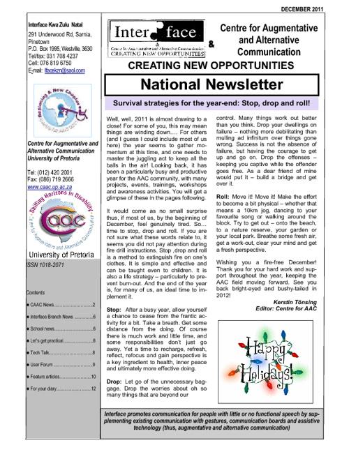 Interface CAAC newsletter Dec_ 2011
