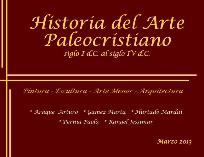 Historia del Arte Paleocristiano