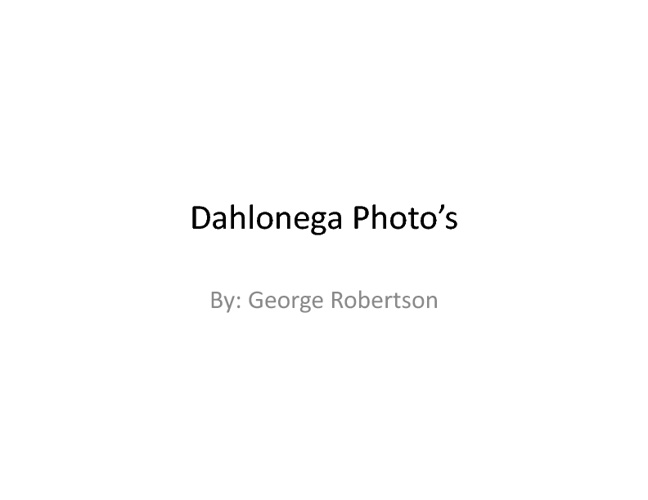 GR's Dahlonega
