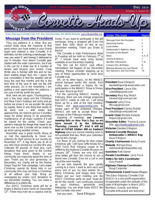 GOCC December 2014 Newsletter