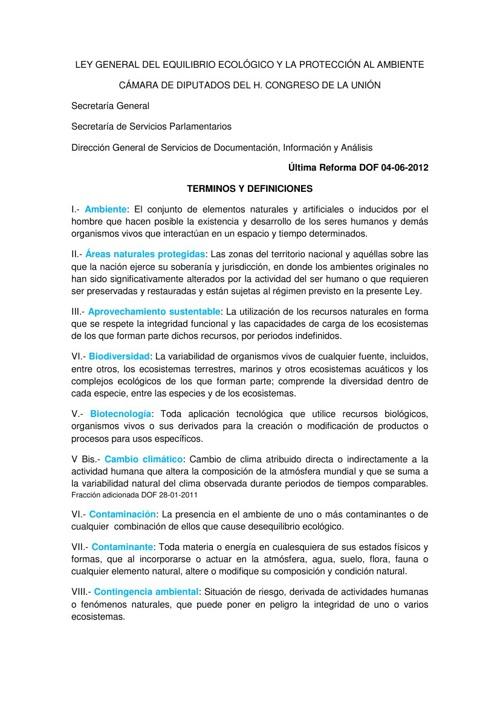 TÉRMINOS Y DEFINICIONES DE LA Ley GEEPA