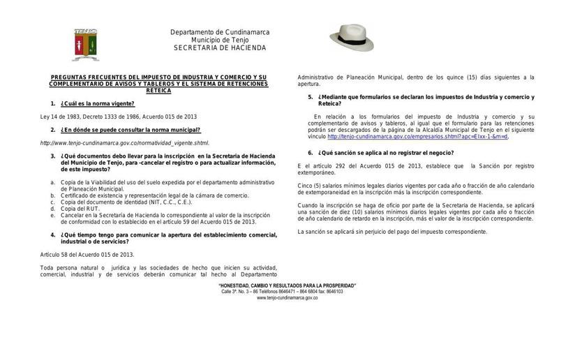 PREGUNTAS FRECUENTES DE IMPUESTOS MUNICIPALES